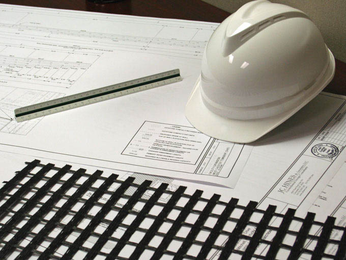 hard hat and ruler